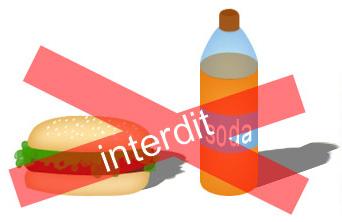 hamburger et sodas